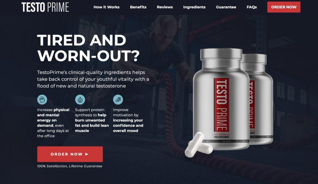 testo prime official website